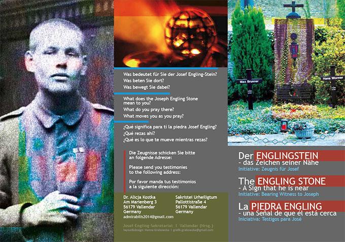 """Flyer zur Initiative  """"Der ENGLINGSTEIN – das Zeichen seiner Nähe"""" (Grafik: Grabowska)"""