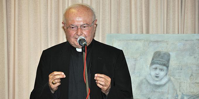 Erzbischof em. Zollitsch gibt ein Zeugnis von seinen Begegnungen mit Pater Kentenich (Foto: Karl Wolf)