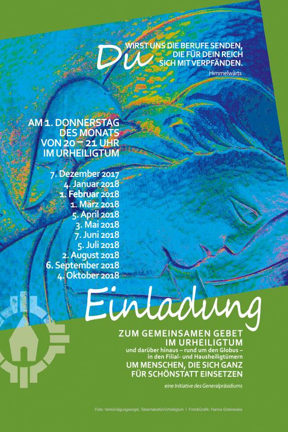 Gebetsinitiative um Berufungen - Plakat (Grafik: Grabowska)