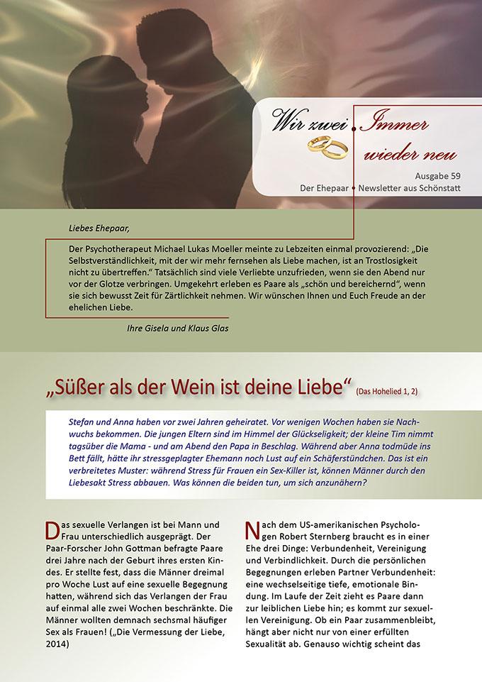 """Ehepaar-Newsletter 11/2017 """"Wir zwei - Immer wieder neu"""" (Foto: pixabay.com)"""