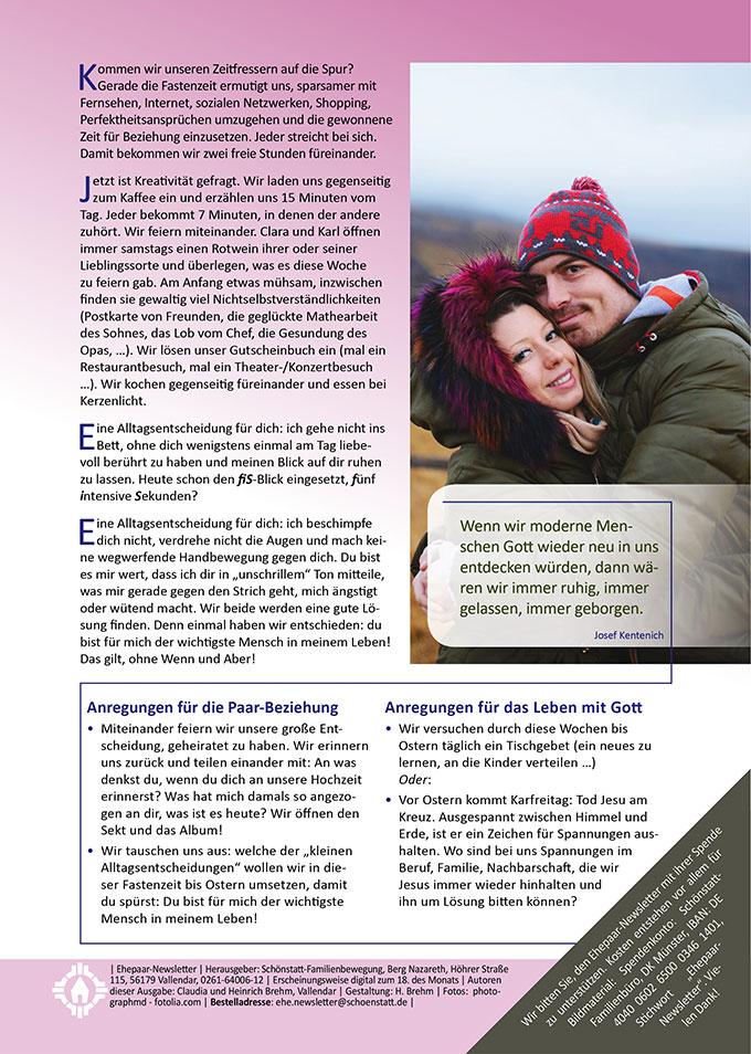"Ehepaar-Newsletter 02/2018 ""Wir zwei - Immer wieder neu"" (Foto: photographmd - fotolia.com)"