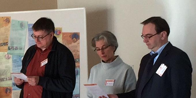 Arno Hernardi, Sr. M. Vernita Weiß und Prof. Dr. Joachim Söder vom zentralen Katholikentags-Team der Schönstatt-Bewegung (Foto: Wanschura)