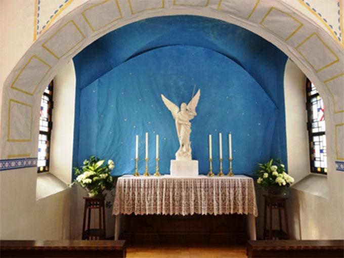 Das Schönstatt-Heiligtum in Herxheim 100 Jahre zurückversetzt als St. Michaels Kapelle von Schönstatt/Vallendar (Foto: Sr. M. Charissa)