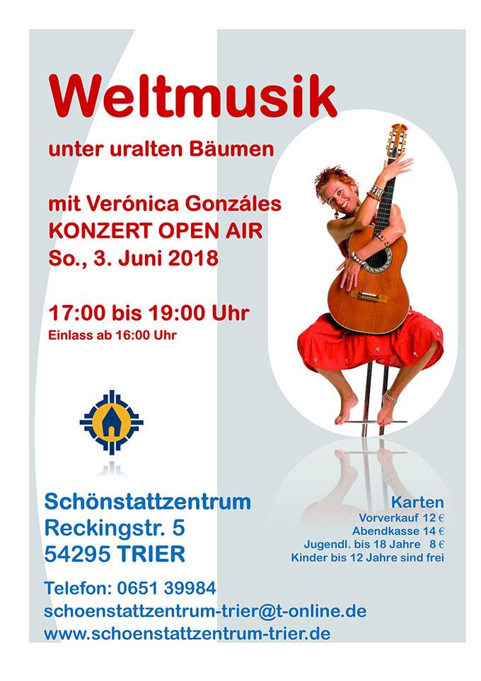 Weltmusikkonzert mit Verónica Gonzáles am 3. Juni 2018