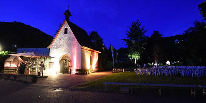 Abendstimmung am Urheiligtum (Foto: Kröper)
