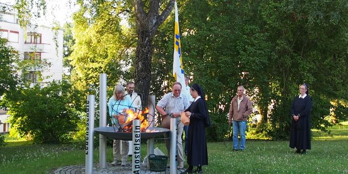 """Die """"Krugpost"""" wird verbrannt (Foto: Jung)"""