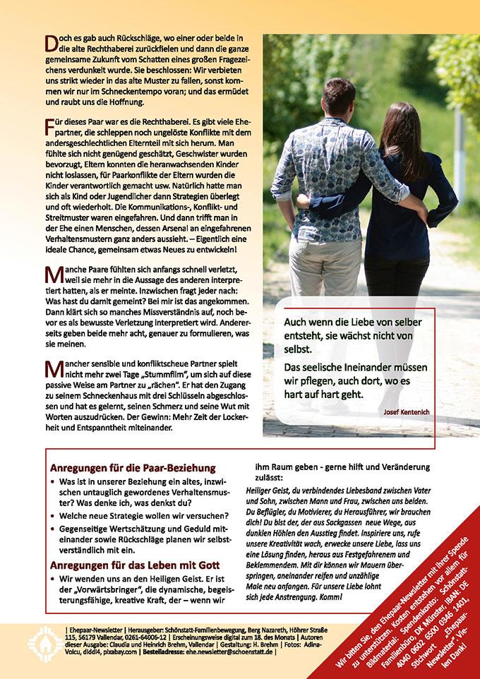 """Ehepaar-Newsletter 06/2018 """"Wir zwei - Immer wieder neu"""" (Foto: AdinaVoicu, pixabay.com)"""