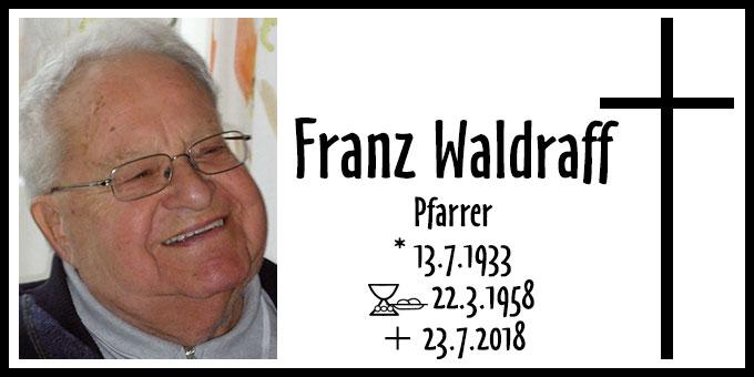 Todesanzeige Pfarrer Franz Waldraff (Foto: privat)