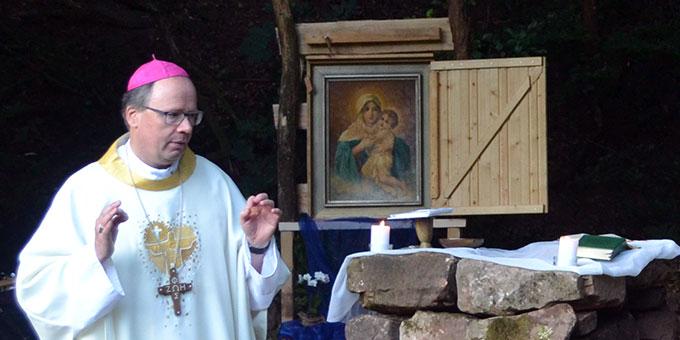 In seiner Katechese betont er, dass es auch für den Glauben Mut brauche (Foto: A. Paul)