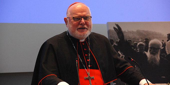 Kardinal Reinhard Marx, Vorsitzender der Deutschen Bischofskonferenz beim Festempfang anlässlich des 50. Todestages von Pater Josef Kentenich (Foto: Brehm)