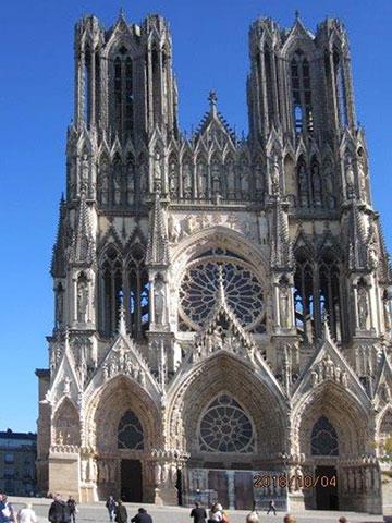 Die Kathedrale von Reims - eindrucksvolle Kulisse für die deutsch–französische Aussöhnung (Foto: Inge Wilhelm)