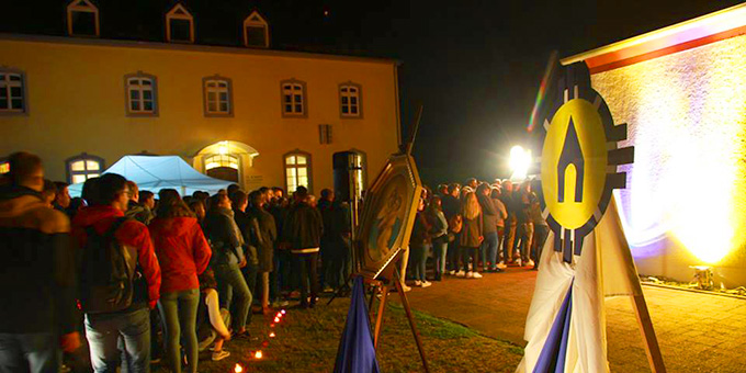 Der Höhepunkt der NdH: Liebesbündnisnacht am Urheiligtum in Schönstatt, Vallendar (Foto: Brehm)