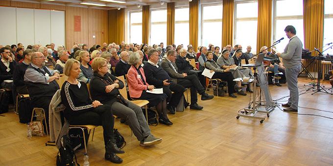 """Deutschlandtag des Netzwerkes """"Miteinander für Europa"""" im CVJM-Haus in Würzburg (Foto: Brehm)"""