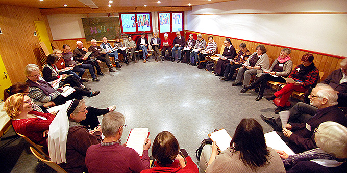 Workshop zum Thema Gebet und Gebetsweg zum Europatag 9. Mai 2019 (Foto: Brehm)