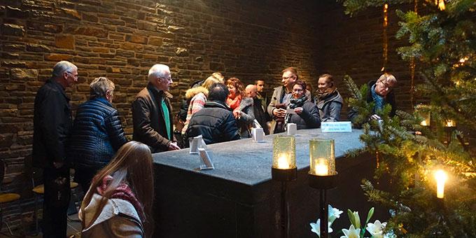 """In der Gründerkapelle konnten sich die Besucher """"ein gutes Wort"""" mitnehmen (Foto: Janika Trieb)"""