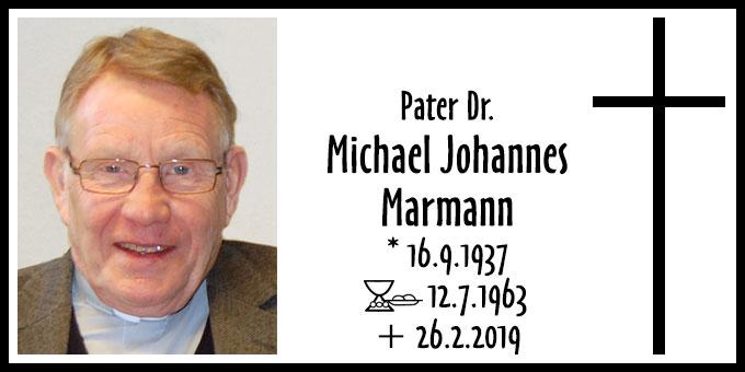 Todesanzeige Pater Dr. Michael Johannes Marmann (Foto: Brehm)
