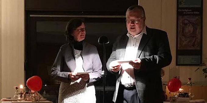 Ehepaar Claudia und Heinrich Brehm beim Impuls (Foto: Brehm)