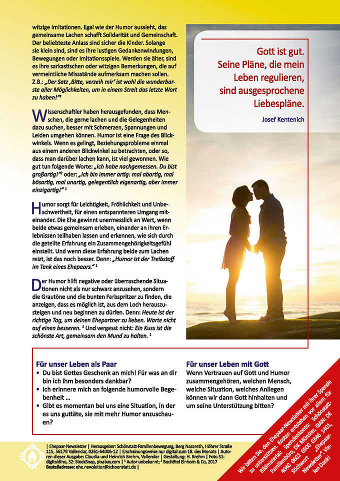 "Ehepaar-Newsletter 02/2019 ""Wir zwei - Immer wieder neu"" (Foto: StockSnap, pixabay.com)"