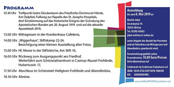 (Flyer: Schönstatt-Bewegung im Erzbistum Paderborn )