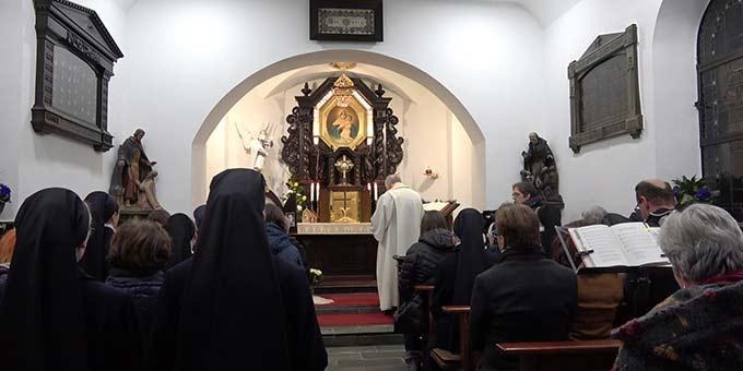 Gebetszeit in der Gnadenkapelle in Schönstatt, Vallendar(Foto: Munz)