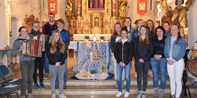 """""""Miteinander beten"""" in der Pfarrei in Schöllang (Foto: Schneider)"""
