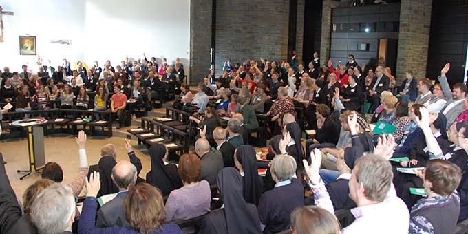 Etwa 200 Delegierte der Schönstatt-Bewegung Deutschland haben sich gertroffen (Foto: Brehm)