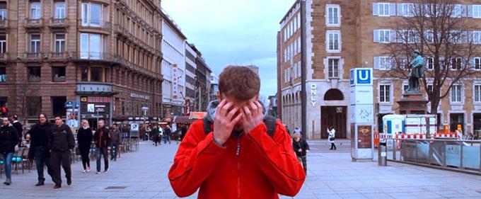 Alles im Kasten? – Filmaufnahmen in der Stuttgarter Fußgängerzone (Foto: NdH)