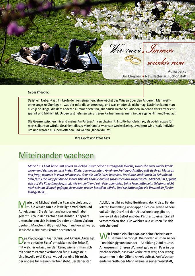 """Ehepaar-Newsletter 03/2019 """"Wir zwei - Immer wieder neu"""" (Foto: Samuel Stone, pixabay.com)"""