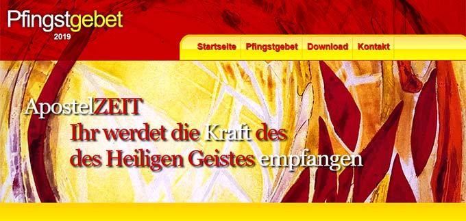 Pfingstgebet 2019 (Foto: Internetseite)