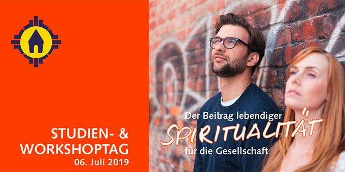 """Studientag """"Der Beitrag lebendiger Spiritualität für die Gesellschaft"""""""