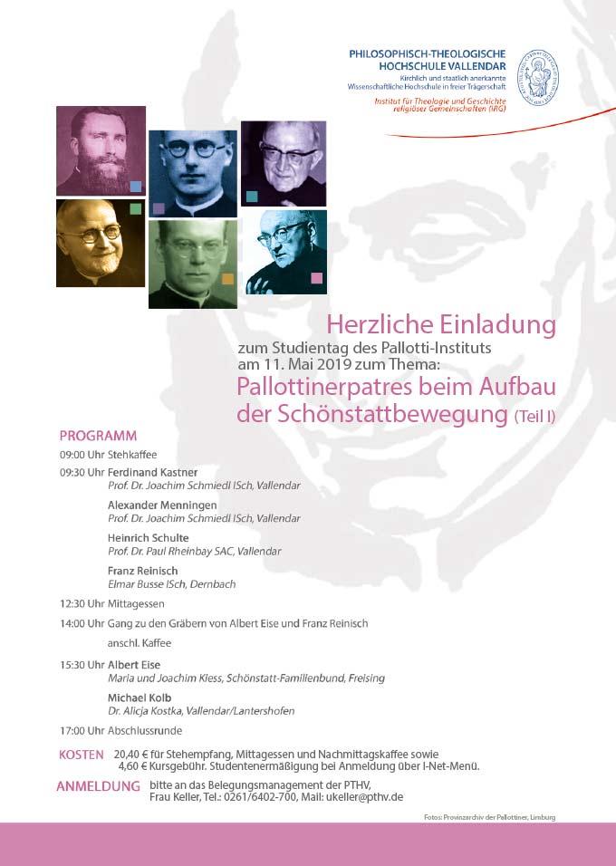 Plakat zum Studientag in der PTHV