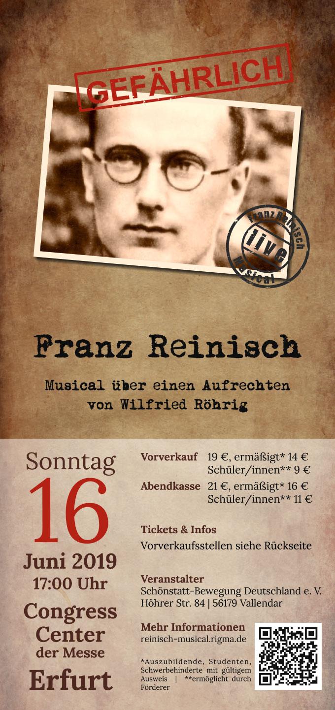 Franz Reinisch Musical - Flyer