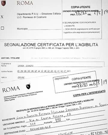 "Ein lange ersehntes Dokument: Zertifikat: ""Agibilità – Bewohnbarkeit"""