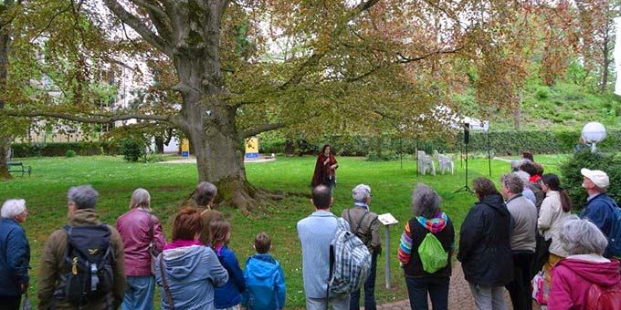 Am Tag des Baumes gibt es Erklärungen und Gedichte im ehemalien Caspary Garten in Trier (Foto: Brück)