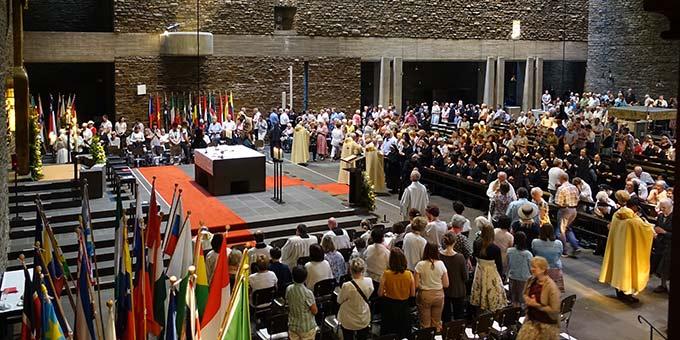 Festgottesdienst in der Dreifaltigkeitskirche, Berg Schönstatt (Foto: Sr. M. Maritta Zell)