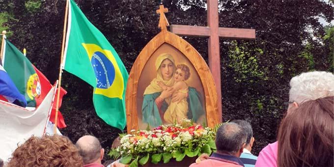 Portugiesischsprachige Pilger zur Wallfahrt in Schönstatt (Foto: Pilgerzentrale)