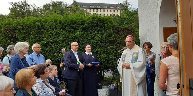 Bischof Dr. Franz-Josef Bode bei der Osnabrücker Diözesanwallfahr am Urheiligtum in Schönstatt, Vallendar (Foto: Pilgerzentrale)