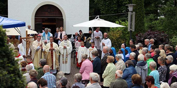 Abschluss des Marienmonats Mai mit Kardinal Rainer Maria Woelki am Schönstatt-Heiligtum Maria Rast, Euskirchen (Foto: H.G. Schmitz)