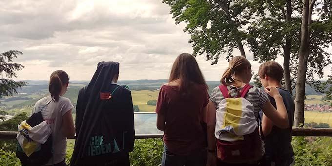 Aussichten genießen beim Wandern (Foto: Mareike Imwalle)