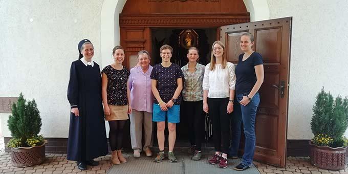 Gruppenfoto mit Frau Böhning (Foto: Mareike Imwalle)