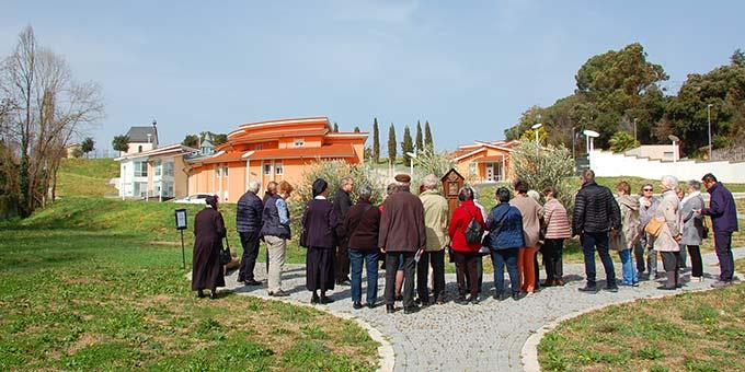 Das internationale Schönstatt-Zentrum Belmonte, Rom, mit Domus Pater Kentenich und dem Matri-Ecclesiae-Heiligtum (Foto: Brehm)