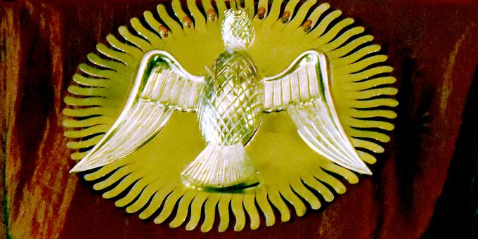 Heilig-Geist-Symbol für das Schönstatt-Heiligtum MATRI ECCLESIAE in Belmonte, Rom (Foto: Kröper, 2017)