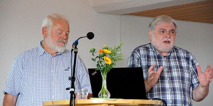 Bernhard Lippold 8links) und Bernhard Brantzen, Diakone aus der Schönstatt-Diakonengemeinschaft (SDG) (Foto: Brehm)