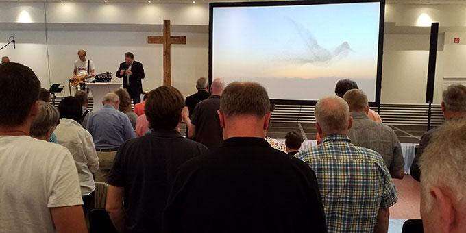 Lobpreis und Gebetszeit beim Christlichen Convent Deutschland 2019 in Kirchheim (Foto: Samietz)