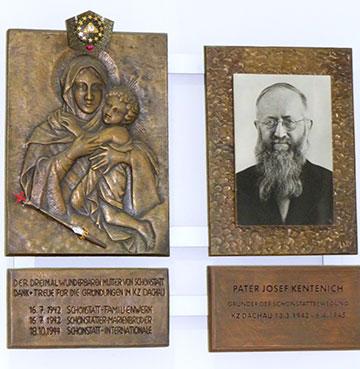 """Relief-Bild der Gottesmutter von Schönstatt, die Pater Kentenich während seiner Inhaftierung im KZ Dachau zur """"Lagerkönigin"""" erwählt hatte  (Foto: Kiser)"""