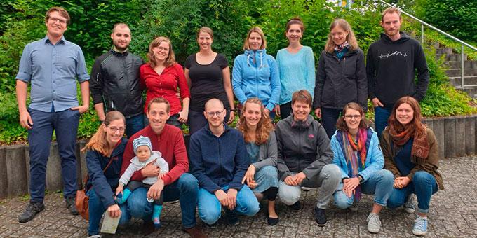 Die Teilnehmerinnen und Teilnehmer des JES-Treffens im August in Schönstatt, Vallendar (Foto: Lucas Jall)