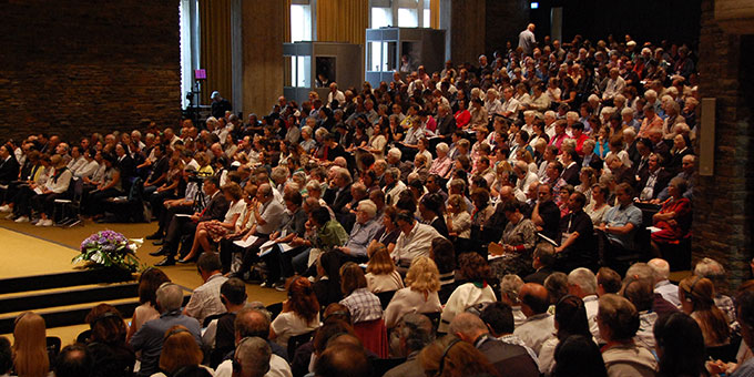 Hörde-Treffen in der Aula der Dreifaltigkeitskirche, Berg Schönstatt, Vallendar (Foto: Brehm)