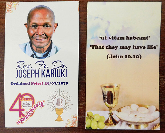 Der Jubilar: Dr. Joseph Kariuki Kamau (Foto: Förster)
