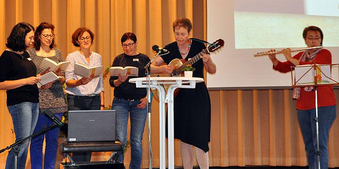 Spontan ins Musik-Team eingestiegen: Freundinnen-Quartett aus Oberschwaben (Foto: SAL)