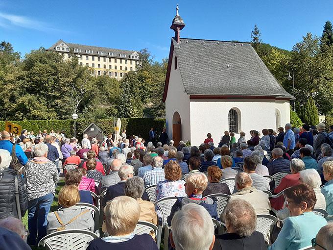 Ankunft der Wallfahrer aus dem Erzbistum Freiburg am Urheiligtum in Schönstatt, Vallendar (Foto: Schönstatt Pilgerzentrale)